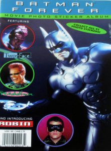 Dc Batman Forever Movie Photo Sticker Album (1995) Importado