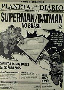 Mini Jornal Superman \ Batman no Brasil 18 X 13 Cm