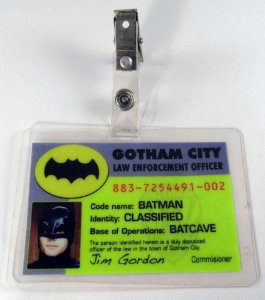 Crachá Gotham City Law Enforcemente Officer Adam West Cosplay Batman 1966