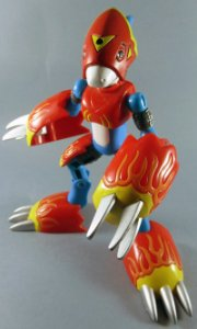 Bandai 2000 Digimon 2 Veemon Flamedramon Figure Loose