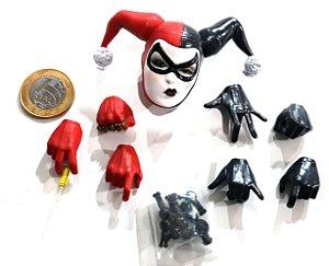 Sideshow DC Batman Harley Quinn (Arlequina) Cabeça e lote de mãos 1/6