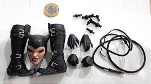 Sideshow DC Batman Cabeça e acessórios Catwoman (Mulher Gato) 1/6