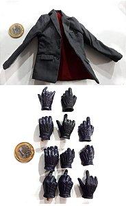 Hot Toys Batman TDK lote Terno / mãos The Joker (Coringa) Robber 1/6