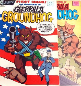 Guerrilla Groundhog #1 E 2 Eclipse Comics Importado