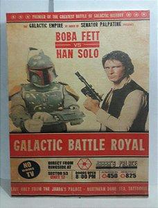 Quadro Han Solo e Boba Fett