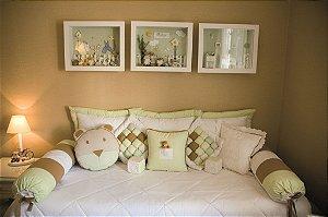 Kit cama da babá piquet com 11 peças
