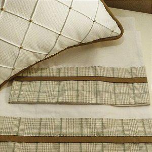 Jogo de lençol e almofada coordenada