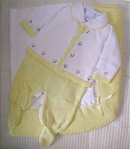 Conjunto Saída Maternidade com 04 peças