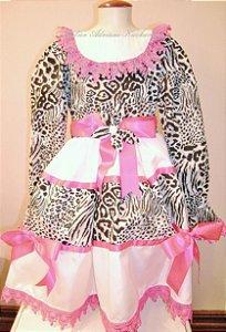 Vestido Caipira Chic oncinha