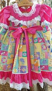 Vestido Caipira Chic patchwork