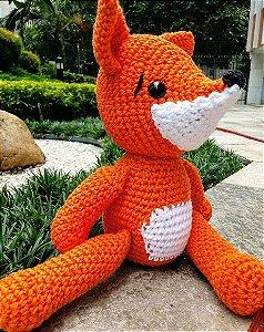Raposa em crochet Amigurumi