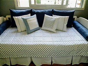 Kit cama azul jeans