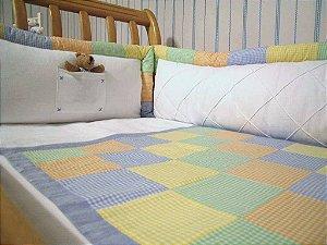 kit berço patchwork menino