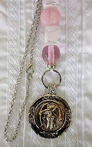 Medalhão Anjo da Guarda pingente de berço