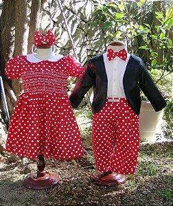 Roupa temática festa Mickey e Minie