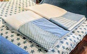 Jogo de lençol patchwork estrelas
