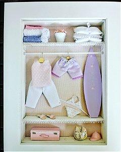 Enfeite porta maternidade closet vitrinado