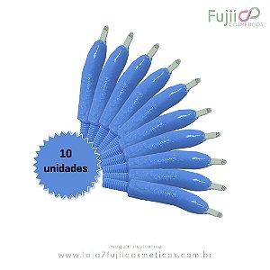 10 unidades - Lâmina Tebori GR Colors 12 Pontas Flex U