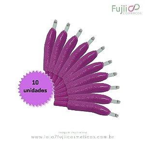 10 unidades - Lâmina Tebori GR Colors 14 Pontas Flex U