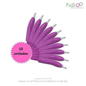 10 unidades - Lâmina Tebori GR Colors 9 Pontas Flex