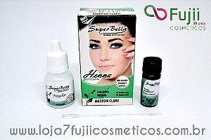 Henna para Sobrancelhas + Fixador - Super Bella