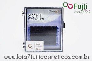 Cílios Fio a Fio Curvatura C - Soft 0.07 - 12mm