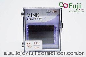 Cílios Fio a Fio Mink 12 mm - C 0.15 Preto