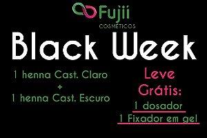 Black Week 1 Henna Castanho Claro e 1 Cast. Escuro + Dosador e Fixador GRÁTIS