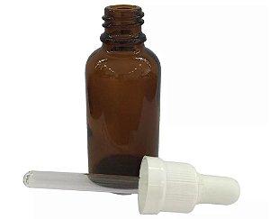 Frasco de Vidro Ambar de 30 ml conta gotas (10 unid.)