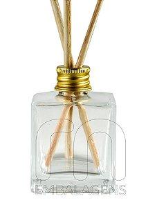 Frasco de Vidro para Aromatizador de 50 ml Cubo (10 unid.)