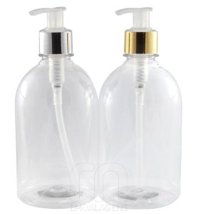 Frasco para Sabonete Liquido de 500 ml Luxo (10 unid.)
