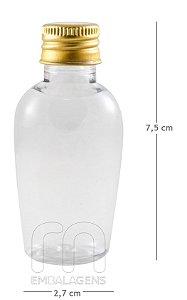 Frasco pet plastico para Lembrancinhas 30 ml Tulipa (10 unid.)