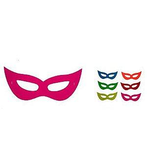 Máscara de Festa com Elástico Cores Neon (8 unid)