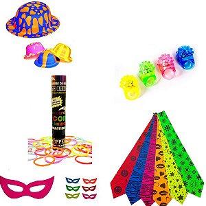 Kit Festa Cores Neon com 154 artigos para Festinha