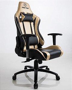 Cadeira gamer Ergonômica Dourada Roxtor 5034