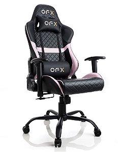 Cadeira Gamer Ergonômica OFX Preta e Pink