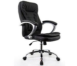 Cadeira Presidente Turim Preta - Anatômica