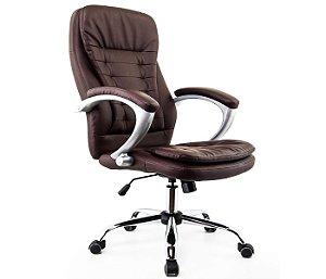 Cadeira Presidente Turim Marrom - Anatômica