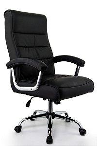 Cadeira Presidente Genebra Preta - Tecnologia Pocket