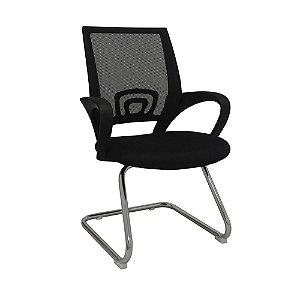 Cadeira Para Escritório Santiago Fixa - Preta