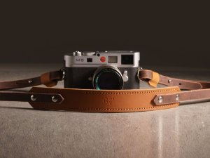 Alça para Câmera Fotográfica - Couro Bicolor