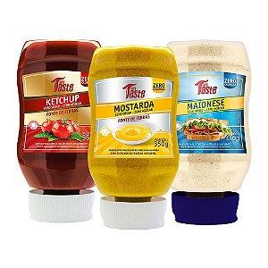 Kit Ketchup + Mostarda + Maionese - Mrs Taste