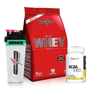Kit Nutri Whey Protein + BCAA + Brinde
