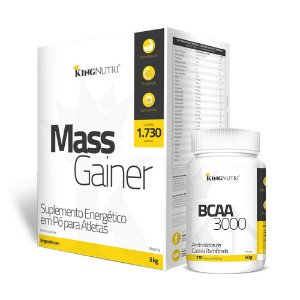Kit Mass Gainer + BCAA - King Nutri