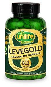 Levegold Levedo de Cerveja - 450 comprimidos - Unilife Vitamins