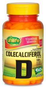 Colecalciferol (Vitamina D3) - 60 cápsulas - Unilife Vitamins