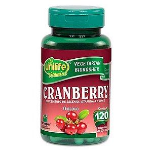 Cranberry - 120 cápsulas - Unilife Vitamins