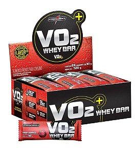 VO2 Whey Bar - 24 barras - Morango - Integralmédica