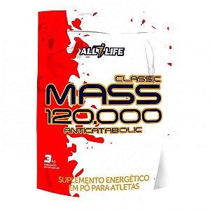 Classic Mass 120.000 Anticatabolic - 3000g - Morango - All Life Nutry