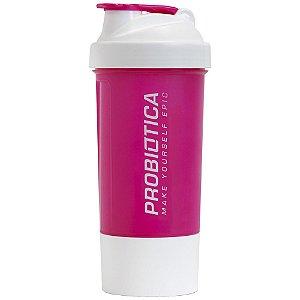 Coqueteleira 2 Doses - Rosa e Branca - Probiótica